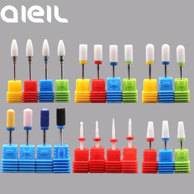 Ceramic Milling Carbide Nail Drill Bits Manicure Machine Burr Milling Cutters For Manicure Pedicure Electric Nail Drill Machine