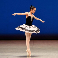 Classic Custom made White Black Ballet Dress Woman,Professional Platter Tutu Ballet Ballerina Costume Leotard Dancewear