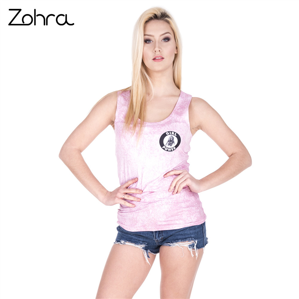 ef40a5415f3fae Zohra New Design Women Tops Power Skeletor Printing Vest Women Fashion  Fitness Tanks Top