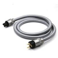 Бесплатная доставка Мощность ЕС шнур переменного тока Audiophile Мощность кабель с ЕС Версия разъем Мощность Plug HIFI UE AC Мощность кабель 2.0 м