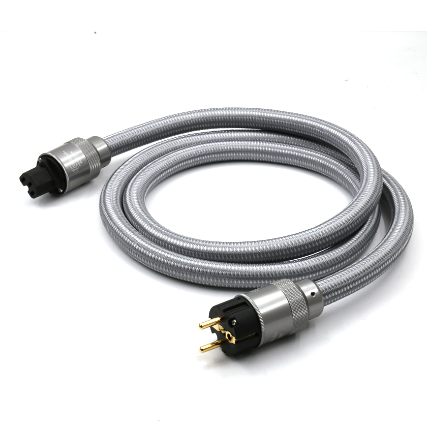 Free shipping power cord EU AC Audiophile Power cable with EU version connector plug Power Plug HIFI UE AC power cable 2.0 M hi end schuko power cable eu power cord with eu plug mains power cable hifi audiophile european ac power cable