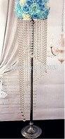 20Pcs Lot Tall125cm Sky Wheel Acrylic Crystal Wedding Centerpiece Wedding Lead Road Wedding Flower Chandelier