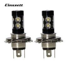 2 шт. H4 светодиодный фонарь лампа высокой яркости белый светодиодный фары лампы DC12V 10SMD 50 Вт DRL светодиодные дневные ходовые огни, автомобильные аксессуары