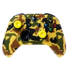 Camouflage Silicone Gamepad Cover + 2 Joystick Caps For XBox One X S Controller-Y1QA