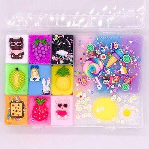 Image 2 - 500 ml DIY nuevos personajes Slime arcilla suave elástico fruta muñeca limo niños juguetes para niños Regalo de Cumpleaños de Navidad conjunto