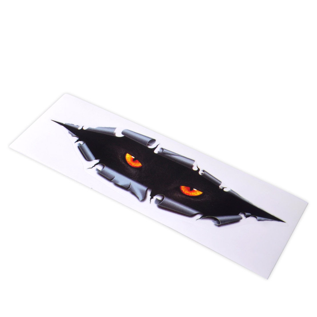 CITALL 1 Pc Car styling Lucu 3D Simulasi Eye Peeking Monster Leopard Waterproof Sticker Decal Auto Car Motorcycle Window