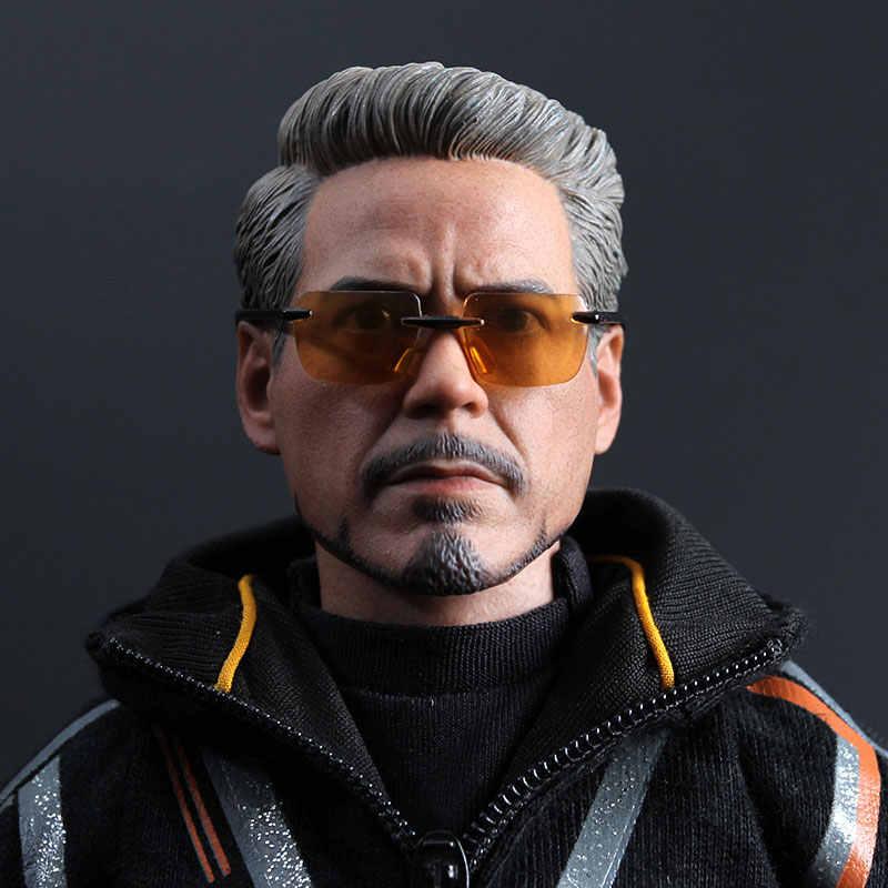 MK100 Tony Stark вырезанная кукла Очки бесшовные гибкие тело 1/6 фигурка в масштабе модель аксессуары