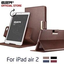 Funda de piel para iPad Aire 2 para el ipad 6, ESR Negocios Cuero de LA PU Auto Wake/Sleep Folio Del Soporte 360 Que Giran la Caja para el ipad 2 para el ipad Aire 6
