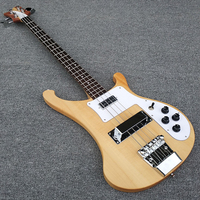 High quality,Transparent wood,body and the neck are a piece of wood, 4003 bass guitar,Real photos,free shipping!!!