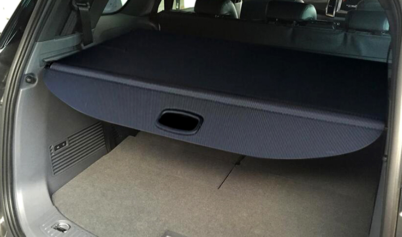 Black Car Rear trunk Cargo Cover Security Shield For Ford Everest 4Dr SUV 2015 2016 Auto accessories Car Styling 1 set black rear trunk cargo privacy cover shield parcel shelf cargo cover for mazda cx 5 2nd gen 2017 2018 car styling
