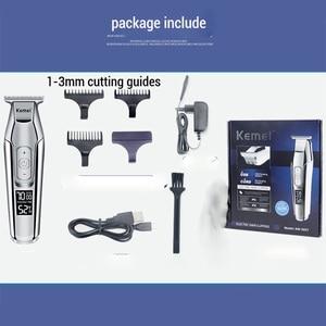 Image 5 - Kemei tondeuse à cheveux électrique pour hommes, rasoir professionnel pour coiffeur, écran LCD, rasoir à barbe de 0mm, outil bricolage même pour couper les cheveux