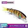 Retail 2016 good fishing lures minnow,quality professional baits 8.8cm/7.2g,bearking hot model crankbaits penceil bait popper