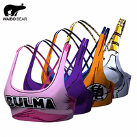 DRAGON BALL Print Women Yogaes Bras Brand Bra Tops Tees Dry Quick Compression Tank With Bra