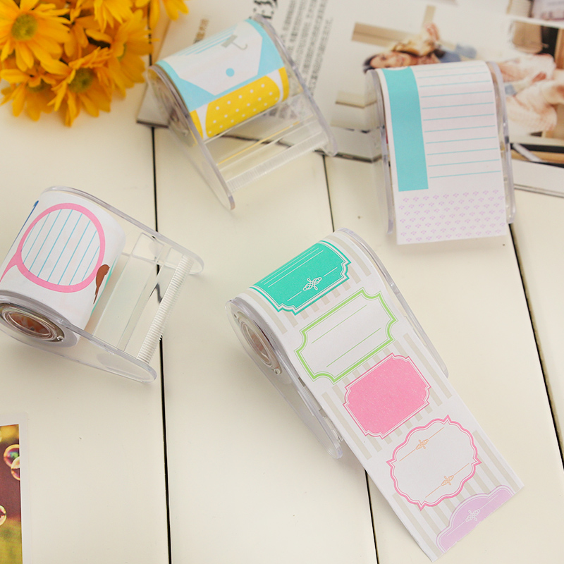 NNRTS Creative stationery tape dispenser dialog expression sticky note post-it N Korea lovely note posted messages
