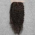7A Barato Parte Do Meio Virgens Mongolian Kinky Curly Lace Encerramento Konts Descorados 4x4 Fechamento Do Laço Do Cabelo Humano Bizarro Fechamento encaracolado