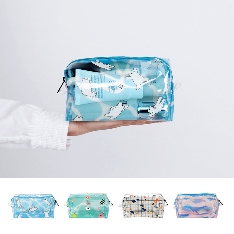 Bentoy Brand Lucency Makeup Bag Women Cosmetic bag Case Make Up Storage Organizer Toiletry Bag Fashion Girls Travel Wash Pouch new women fashion pu leather cosmetic bag high quality makeup box ladies toiletry bag lovely handbag pouch suitcase storage bag