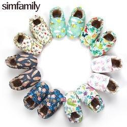 [Simfamily] для девочек мальчик первые ходоки мягкая обувь для младенцев и малышей милый цветок подошвы детская обувь для новорожденных детская