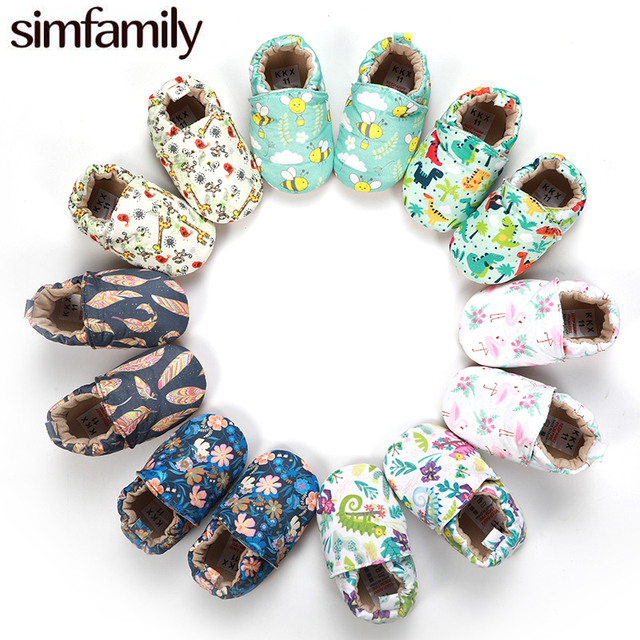 [simfamily]Kid Girls Boy First Walkers Soft Infant Toddler Shoes Cute Flower Soles Crib Shoes Footwear for Newborns baby shoes