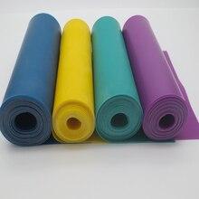 Shou Fa 2 méteres lapos gumiszalag slingshot 0.55mm 0.6mm 0.65mm 0.7mmFlat gumiszalag használt vadászat katapultok ki ajtaján