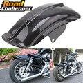 Черное пластиковое заднее крыло мотоцикла для Harley Sportster Solo Bobber Chopper Cafe Racer 883 883R 1200 1994-2003