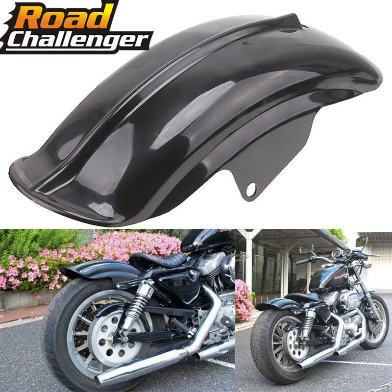 Black Plastic Motorcycle Rear Mudguard Fender for Harley Sportster Solo Bobber Chopper Cafe Racer 883 883R 1200 1994   2003   - title=