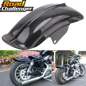 Black Plastic Motorcycle Rear Mudguard Fender for Harley Sportster Solo Bobber Chopper Cafe Racer 883 883R 1200 1994   2003|  -
