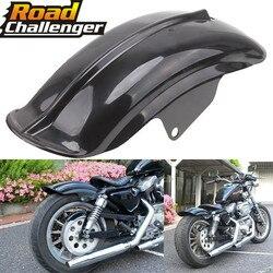 Siyah plastik motosiklet arka çamurluk çamurluk için Harley Sportster Solo Bobber Chopper Cafe Racer 883 883R 1200 1994-2003