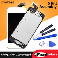 Complete Full Set Ecran For iPhone 5 LCD Display For iPhone 5s 6 plus Touch Screen Assembly Replacement+Home Button&Front Camera