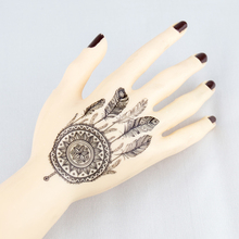 Fake Tattoo Body Art Black Henna Mehndi Mehendi Paste Indian Dream Catcher Temporary Tattoos Waterproof Mandala Design Tattoo