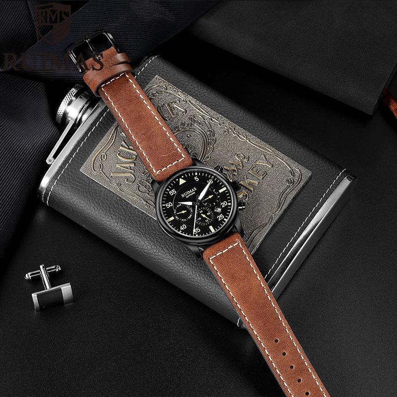 Ruimas Business Watch Men Automatic Luminous Clock Men Tourbillon Waterproof Mechanical Watch Top Brand Relogio Masculino