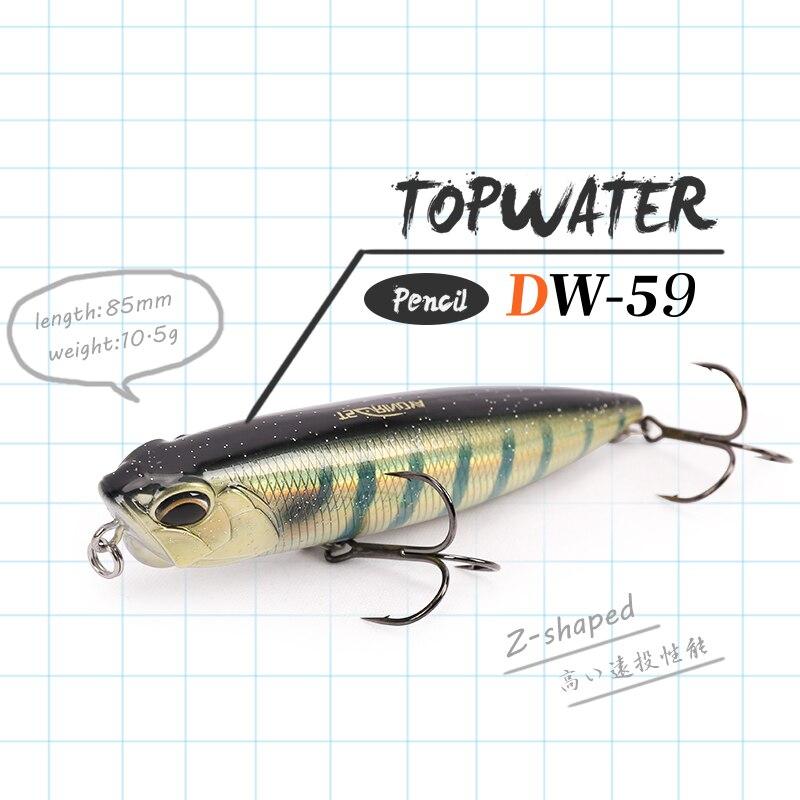 TSURINOYA 3pcs Floating Pencil Lure Set DW59 85mm 10.5g Topwater MInnow Crank Hard Bait Bass Snakehead Articial Wobblers Peche