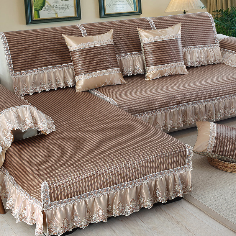 Simple Modern Sofa Mats European Ice Silk Bamboo Combination Skid Sets In Cover From Home Garden On Aliexpress Alibaba Group