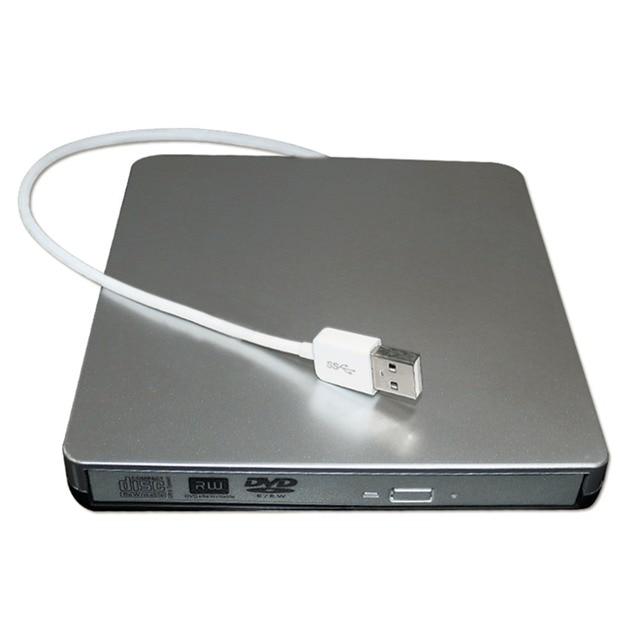 Externo USB2.0 Tipo Bandeja de DVD +/-R 8X/CD-R24X Queimador Escritor Lido POP-UP Móvel Rígido Externo Para PC com windows