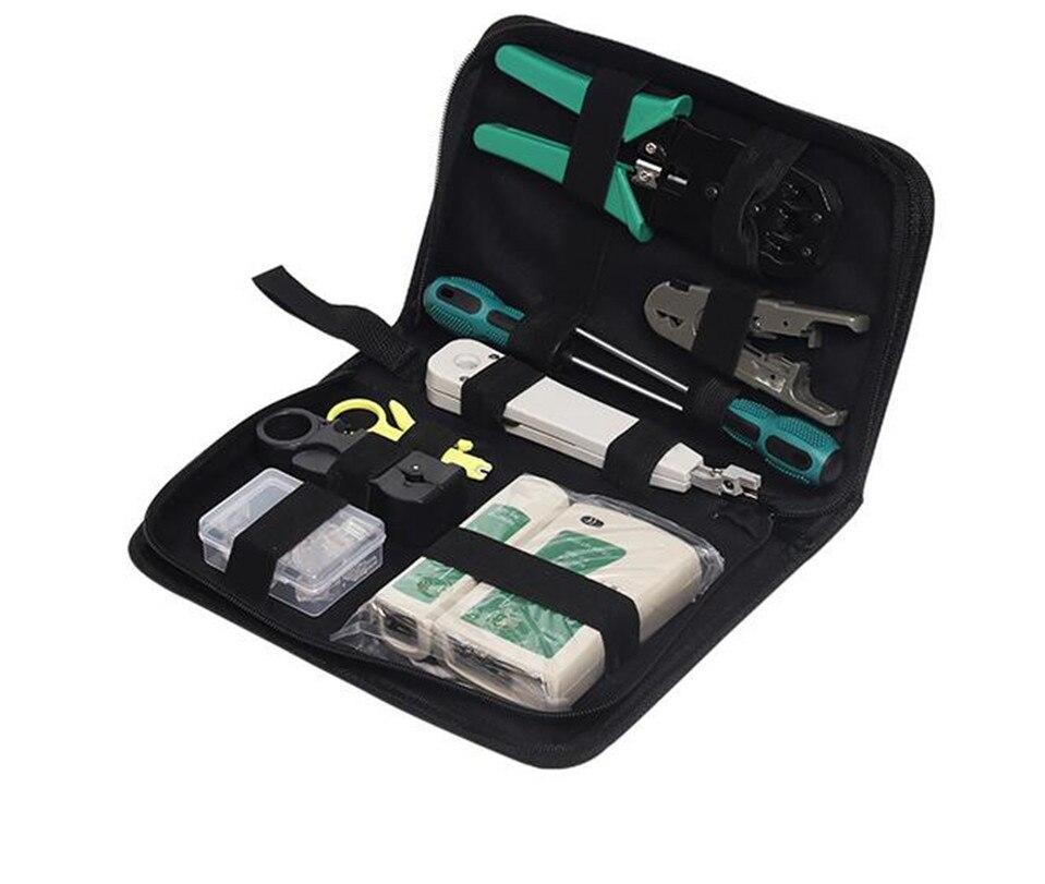 11 Teile/satz Tragbare Lan Netzwerk Reparatur Tool Kit Kabel Tester Zange Crimp Crimper Stecker Strippen Crimp Kombination Werkzeuge