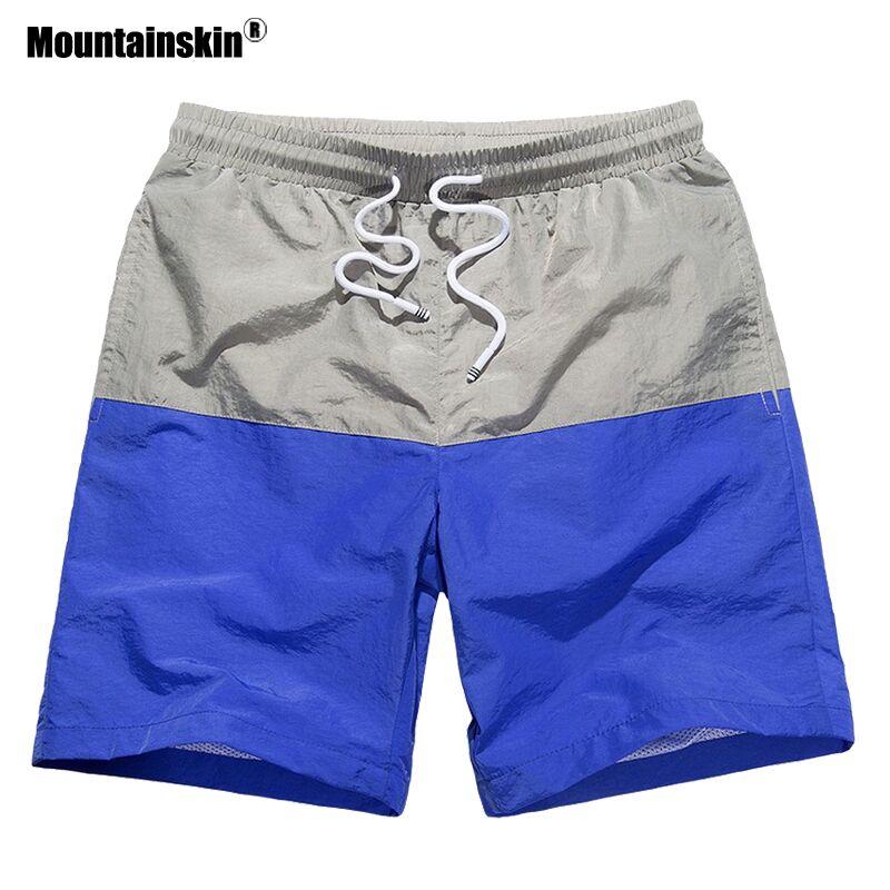 Mountainskin Men Summer Quick Dry Breathable Shorts Outdoor Sports Beach Swimwear Surfing Hiking Running Male Board Shorts VA360