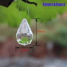 Здесь можно купить  Future and Fancy DIY Iridescent Garland Diamond Acrylic Crystal Beads Strand Shimmer Wedding decoration Free Shipping  Festive & Party Supplies