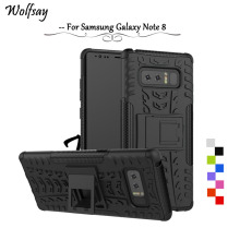 Wolfsay For Cover Samsung Galaxy Note 8 Case Note 8 Tough Impact PC + Rubber Fundas For Phone Case Samsung Galaxy Note 8 N950F #