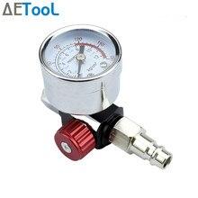 Aetool pistola de pulverização, ajuste de pressão do ar, medidor automotivo, reparo, ferramenta de pintura, spray, acessórios, regulador de arma pneumática