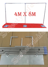 13ft x 26ft High Quality Wedding Stainless Steel Pipe Stand Wedding Backdrop Stand with expandable Rods Wedding Props