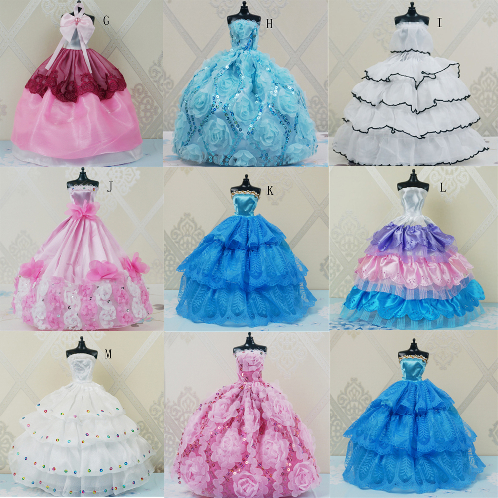 Evening Dress For Barbie Doll Wedding Dress For Barbie Furniture For Dolls Puppet Clothes Dolls Accessories Multi Styles