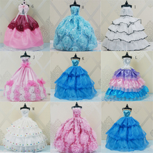 Evening Dress for Barbie Doll Wedding Furniture For Dolls Puppet Clothes Accessories Multi Styles