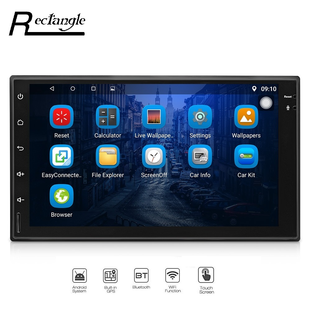 7023 Android 6 0 1 Car Radio Player GPS Navigation Universal 2Din Ultra Thin WiFi DVR