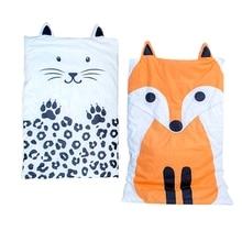 Летнее Детское хлопковое стеганое одеяло с принтом кота, тонкое детское постельное белье, простыня для новорожденных, детские одеяла, супер мягкий чехол для коляски, 350 г