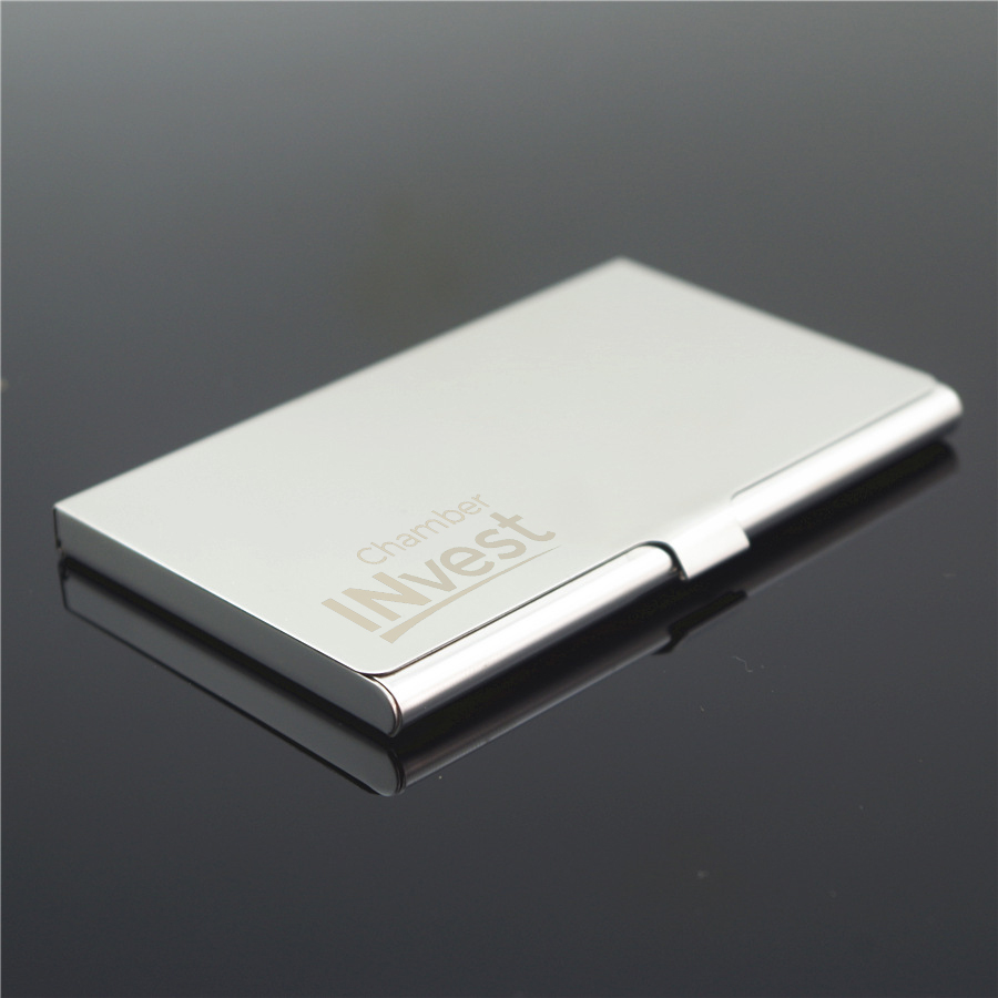 buy online fccce 5c8a4 US $89.5 |Personalized Metal Business Card Holder Custom Logo Engraved  Business Name Card Holder Case Pocket Wallet ID Card Storage Case-in Party  ...