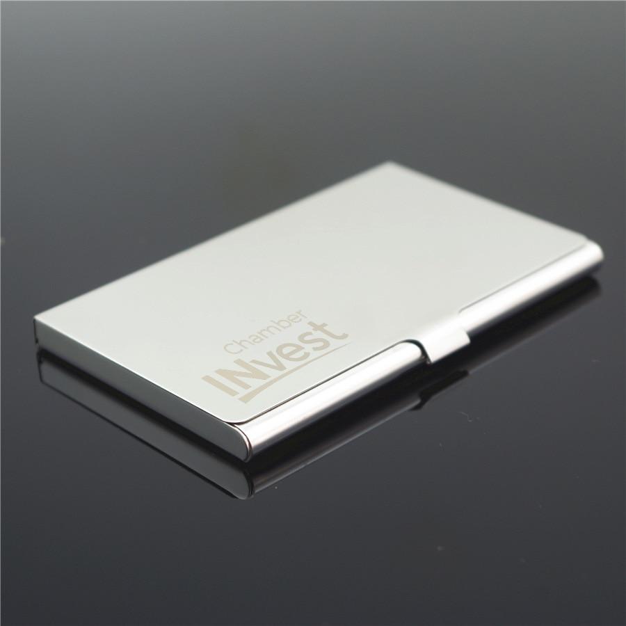 Personalized Metal Business Card Holder Custom Logo Engraved ...