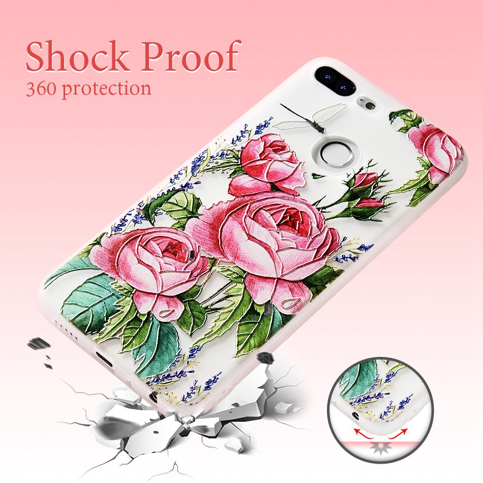 3D Relief Flower TPU Case For On Honor 9 9 lite Soft Silicone Case Back Cover Case for Huawei P20 P10 lite NOVA 2 Case           (6)