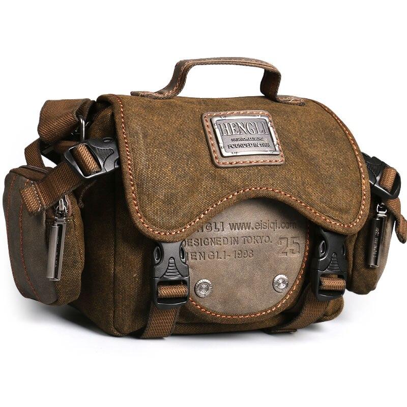 Rétro caméra sac hommes sacs à bandoulière loisirs résistant à l'usure toile croix messenger sac unisexe décontracté crossbody sacs