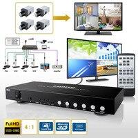4X1 4 Порты и разъёмы Переключатель HDMI деление изображения 4 1 Quad Multi Viewer бесшовные switcher мульти просмотра PIP конвертер + ИК пульт дистанционного