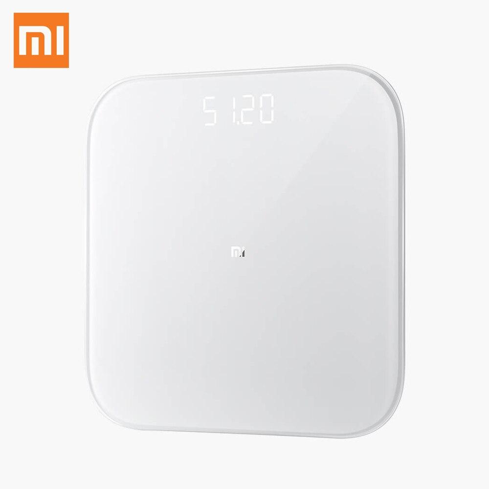 Оригинальные умные весы Xiaomi Mi Smart Weight Scale 2, Bluetooth 5,0, тест на баланс, светодиодные цифровые весы для здоровья, для Android 4,4, iOS 9