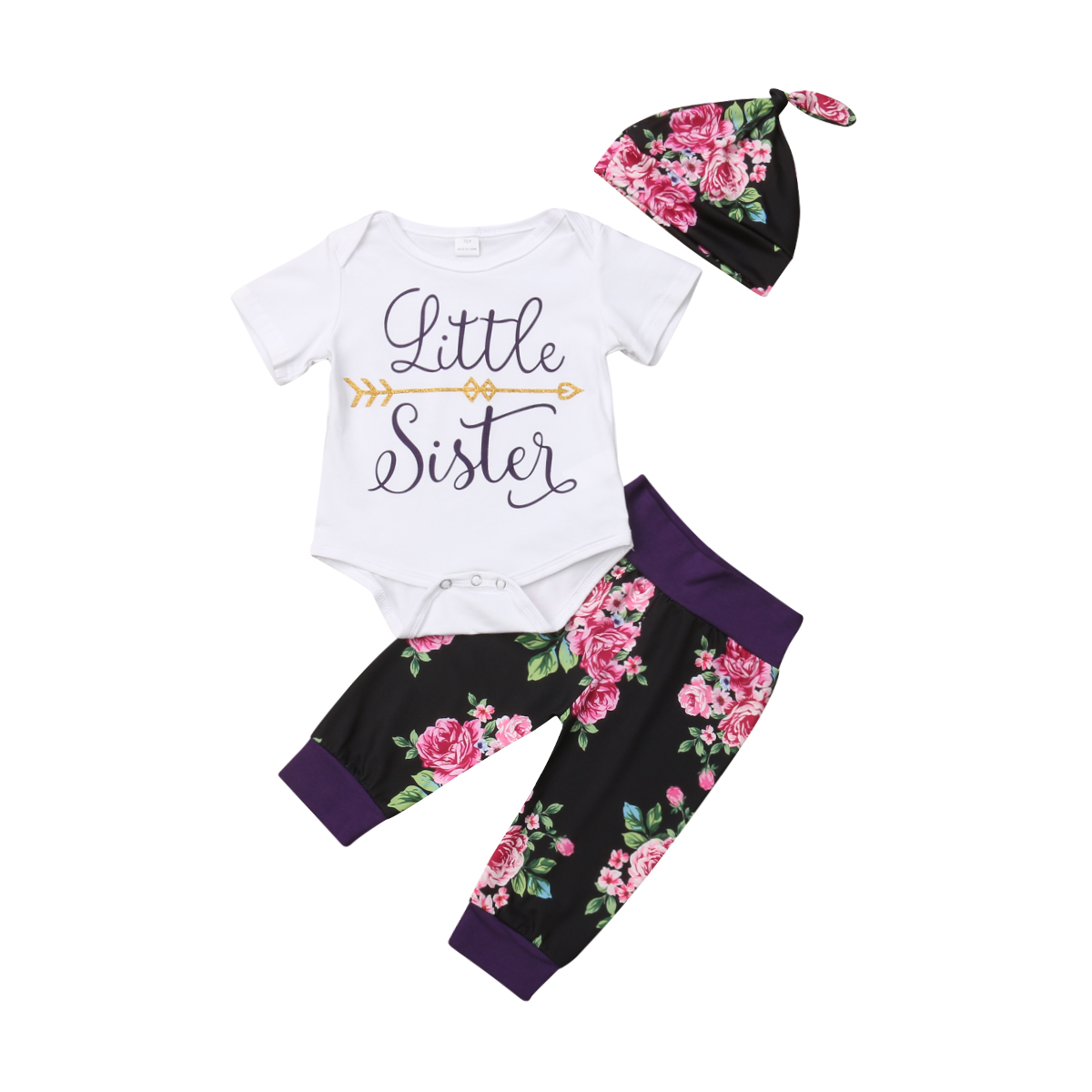 2019 Cute Toddler Kids Baby Girl Flower Top Dress Pants Leggings Outfits Clothes